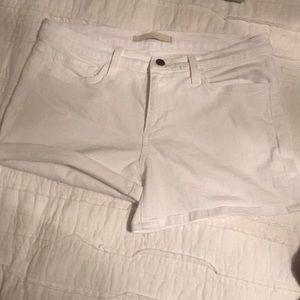 Joes White Denim Shorts